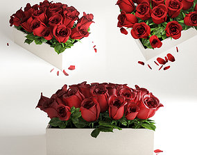 3D model red flowerbox