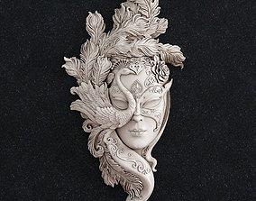 3D printable model Face mask girl