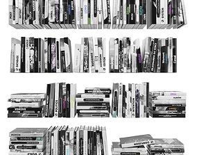 Books 150 pieces 2-6-5 3D asset