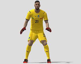 3D model Donnarumma Euro 2020