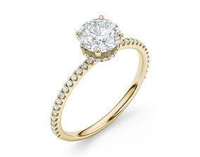 Engagement Halo Ring 3D print model