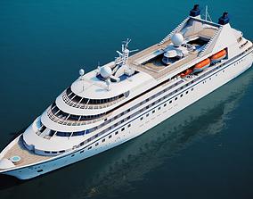 3D asset Luxury Cruiseship