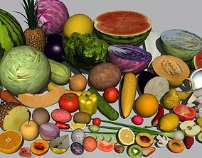 3D tomato Fruit and vegetables collection