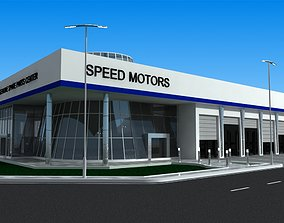 Car showroom - exhibition 3D model