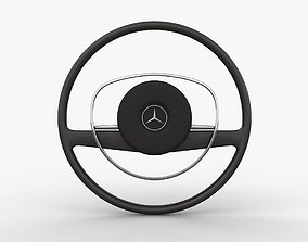 Mercedes-Benz 280 SL Steering Wheel 3D asset realtime
