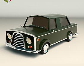3D model Low Poly Sedan Car 01
