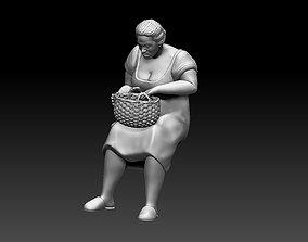 woman 3D printable model people
