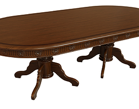 3D model Wooden table with carvings 2500