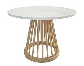 3D model Fan Wooden Table