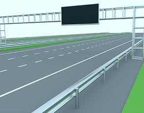 Freeway or Highway 3D asset