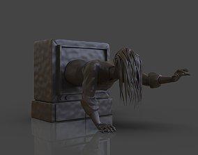 Sadako Ringu plus Timelapse 3D print model
