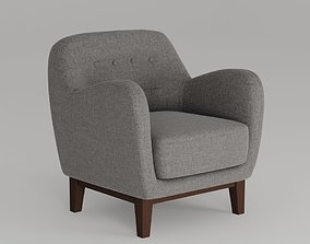 3D model Fabric Upholstered Modern Chair