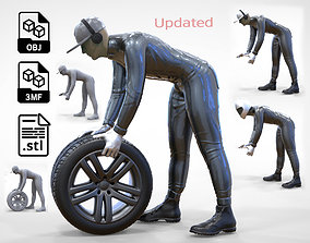 3D print model N1 Mechanic or pit crew 1 64 Miniature