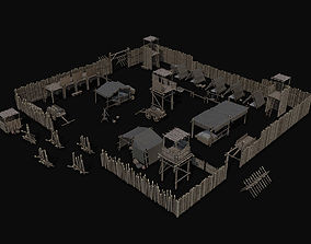 3D asset Ancient Camp Construction Kit
