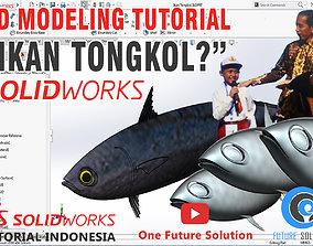 Ikan Tongkol - Mackerel Tuna Fish 3D printable model