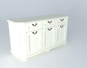 simple 3D model dresser