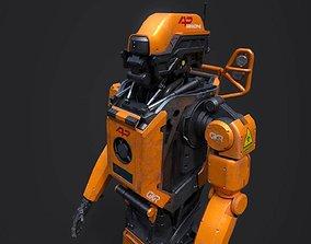 3D asset Elysium Droid Orange Skin
