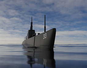 3D model nautical Submarine