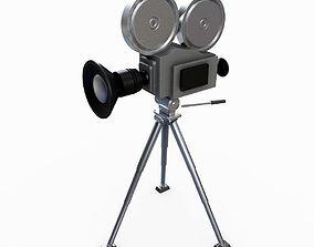 retro camera 3D model tripod