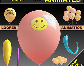 Balloons Rigged and animated 3D model