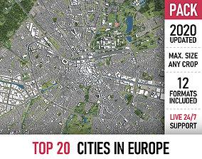 TOP 20 Cities in Europe 3D model