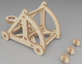 Plywood constructor - catapult 3D printable model