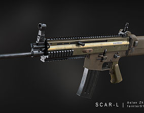 MK 16 SCAR-L Gameready Lowpoly Asset realtime