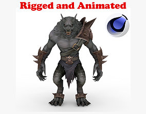 Werewolf Rigged and Animated 3D asset
