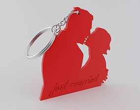 Just Married Keychain 3D printable model