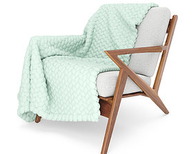 Soto Chair with Wool Blanket 3D covered