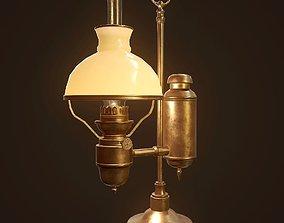 Antique Oil Lamp - PBR Game Ready 3D model