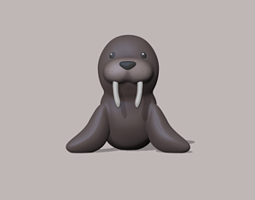 3D print model A cute Walrus to decorate and play