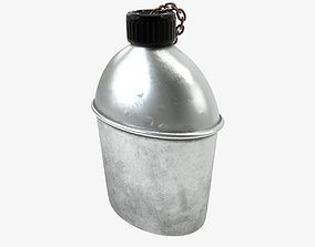 US Bottle Canteen WWII 3D model low-poly
