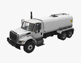 3D model Tanker Truck International 7400