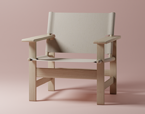 3D model low-poly Canvas chair