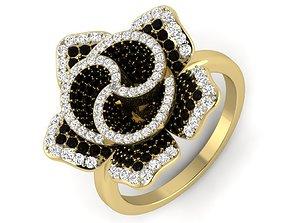 Women flower ring 3dm render 3
