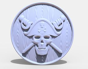 3D print model Pirate skull pendant