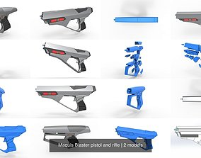 3D model Maquis Blaster pistol and rifle