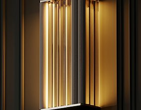 VeniceM Numa Wall Sconce in Brass and Glass by Massimo 3D