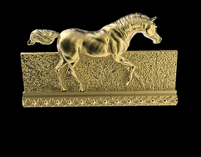 Galloping Horse in reliefs 3D printable model