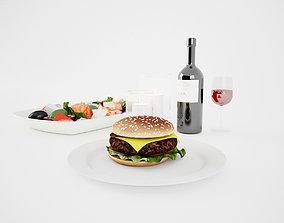 3D model Romantic Dinner Set