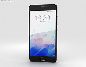 3D model note Meizu M3 Note Gray