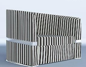 Lounge Stripped Italian Armchair 3D