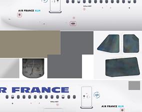 3D model AIR FRANCE Airbus A320