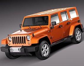 Jeep Wrangler Unlimited Sahara 2013 3D model