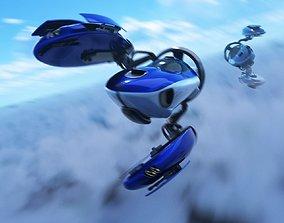 Space racer ship 3D model