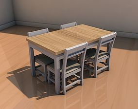 Table with cadiras 3D model