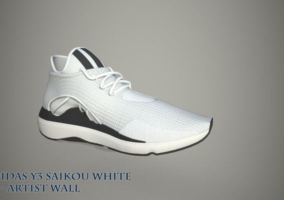 ADIDAS Y3 SAIKOU 3DSHOES LOW POLY PBR TEXTURE