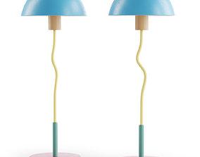 Vintage Table Lamp Sottsass Mendini 3D model