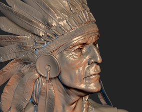 Native American Proud 3D print model